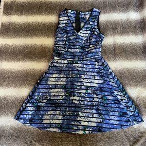 Women's blue and black dress